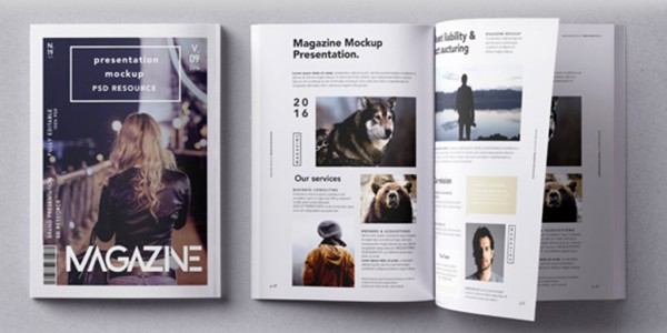 Conception - création magazine - Template designVincenzo Design