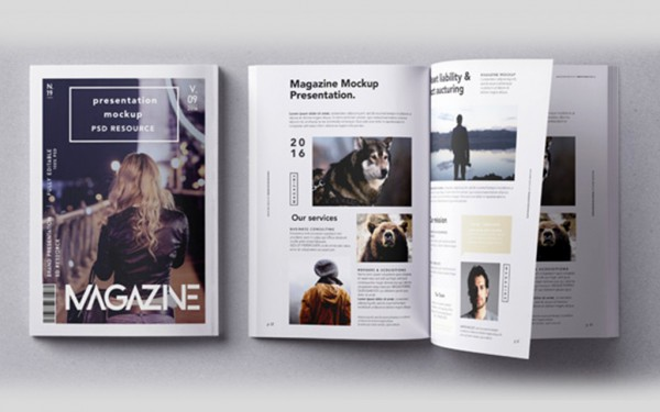 Conception - création magazine - Template designVincenzo Design