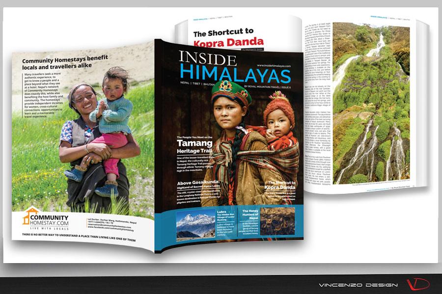 maquette magazine design