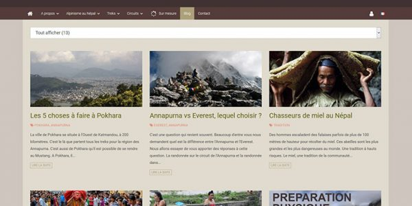 Blog d'un site e-commerce