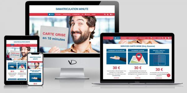 Site e-commerce Immatriculation Minute